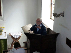 Doug teaching at a small church in Capel y Fin, Wales, UK